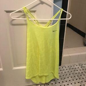 Nike Yellow Tank